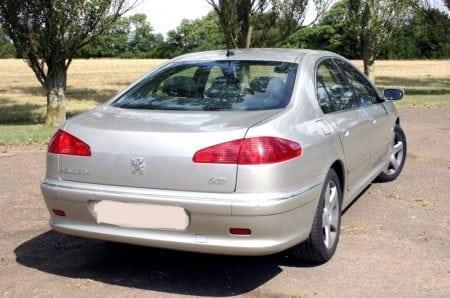 607 rear grey