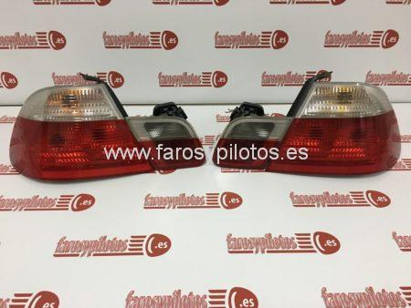 bmw - Pilotos traseros Bmw Serie 3 E46 Coupe blancos juego completo
