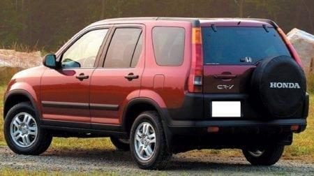 2002 honda cr v rear view